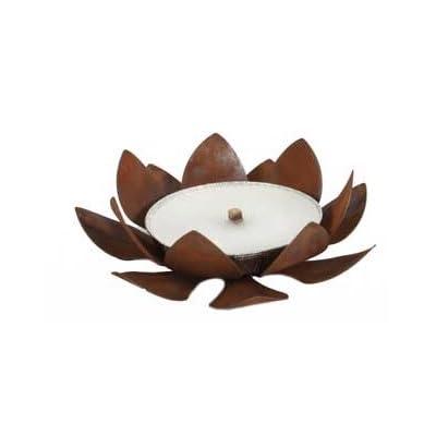 'Flamm Coque Support Flower–Métal–Aspect rouillé, 28cm de diamètre, hauteur 17cm, incl. Flamm Coque; Jardin Fête, Pâques,