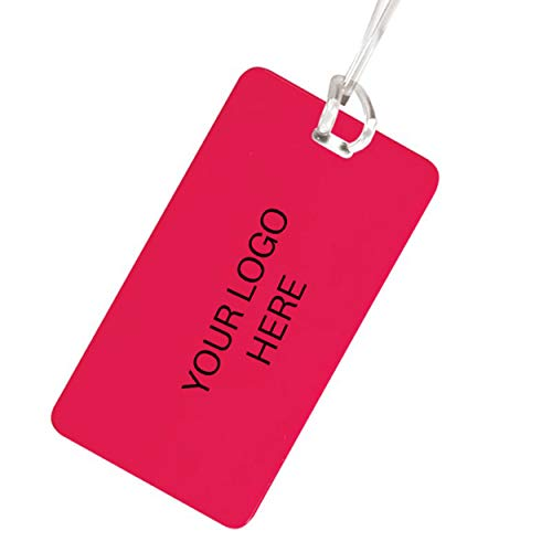Hi-Flyer Luggage Tag - 400 Qty - 1.08 Each - Promotional Product Imprinted & Personalized Bulk with Your Custom Logo Red