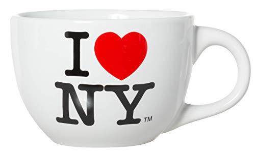 Officially Licensed I Love New York Jumbo Extra Large Ceramic Latte Mug/Soup Mug (White)