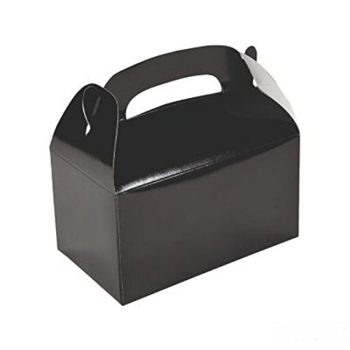 Discount Box - 1 DOZEN (12) BLACK TREAT BOXES BY DISCOUNT PARTY AND NOVELTY