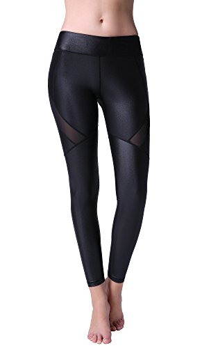 TOP 3 Leather Leggings Sports Waisted