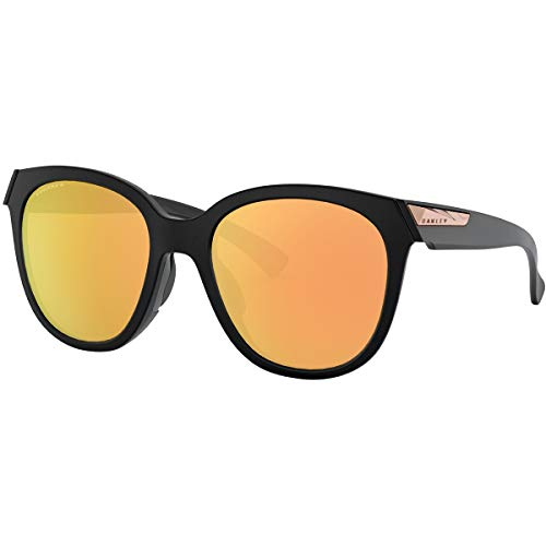 Oakley Women's Low Key Sunglasses,OS,Matte Black/Prizm Rose Gold -