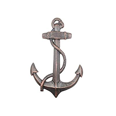 "Rustic Copper Cast Iron Anchor 17"" - Home Wall Decor - Nautical Theme: Toys & Games"