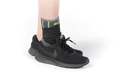 SENTEQ Ankle Brace Support Sleeve - Medical Grade & FDA Approved. Ankle Stabilization Sleeve with Strap and Heel Compression Wrap with Gel Padding Provides Support for Joints and Muscles. (SQ2 N003 S) by SENTEQ (Image #7)