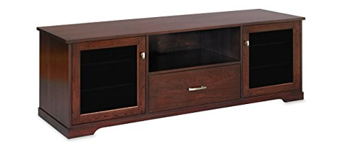 """Furniture Tv Lifts Plasma (Horizon EX 72-inch American Solid Wood Media Console / TV Stand / AV Cabinet for Most Flat Screen TVs to 80"""" (Center Speaker Shelf and Media Drawer) (Espresso on Cherry))"""