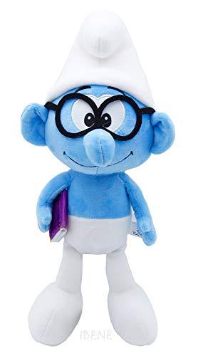 "Sunguptoy The Smurfs Plush Doll 15"" Cute Home Room Decor 38cm (Brainy)"