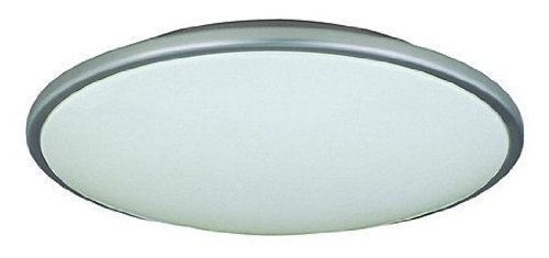 Lite Source LS-5411SS/WHT Pegeen 17-Inch Ceiling Flush Mount Lite, Satin Steel with White Acrylic (Lite Source Satin Ceiling Lamp)
