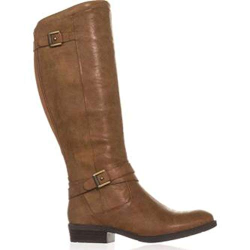 Womens Closed Boots Brush Over Yalina Traps Bare Fashion Knee Brown Toe FqAw5BWnt