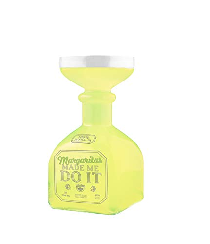 BigMouth Margarita Bottle Glass – Hilarious Glass Holds up to 32 Oz – Glass Shaped Like A Tequila Bottle, Reads…