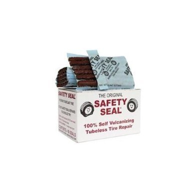 1 Box of 60 Plugs Total Safety Seal Tire Plugs Tire Repair Brown, 4'' Safety Seal