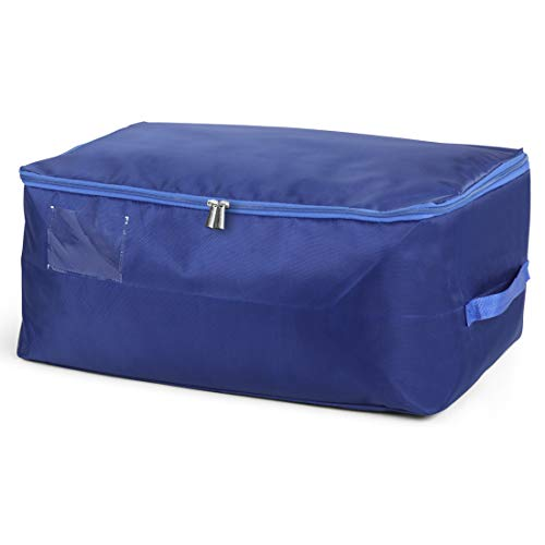 DOKEHOM DKA1014SBXXL2 XX-Large Under Bed Storage Bag (5 Colors, L and XXL), Thick Ultra Size Fabric Clothes Bag, Moisture Proof (Sapphire Blue, XXL)