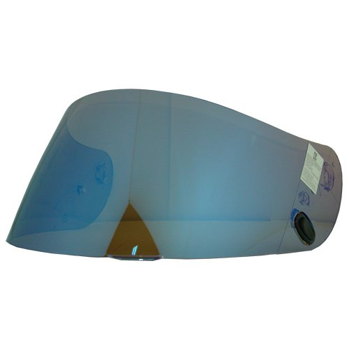 HJC HJ-09 Shield / Visor Gold,Silver,Blue,Smoke,Clear,for AC-12, CL-15, CL-16,CL-17,CL-SP,CS-R1,CS-R2,FS-10, FS-15, IS-16, FG-15, Kawasaki ZX, Kawasaki ZXSP, and Joe Rocket RKT101,RKT201 and RKT-Prime helmets, Bike Racing Motorcycle Helmet Accessories - Made in Korea (Blue)