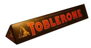 Toblerone Bar - Swiss Dark Chocolate with Honey & Almond Nougat Bar (Pack of 3 Bars Each 3.5 oz)