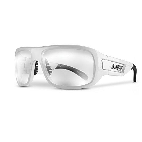 LIFT Safety Bold Safety Glasses (White Frame/Clear Lens)