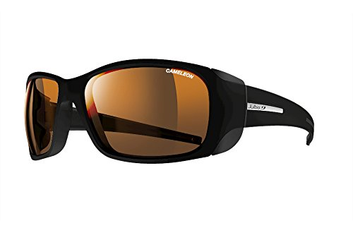 Julbo Monterosa Mountain Sunglasses - REACTIV Cameleon - Matte Black/Black]()