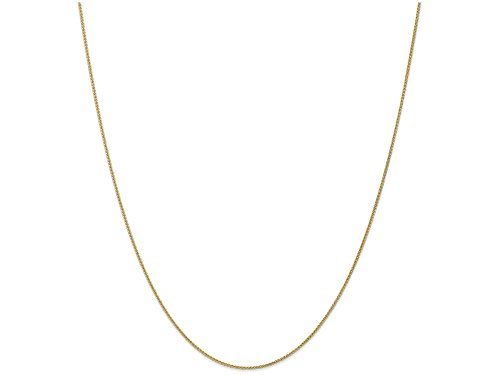 (Finejewelers 24 Inch 10k Yellow Gold 1mm Spiga Chain Necklace)