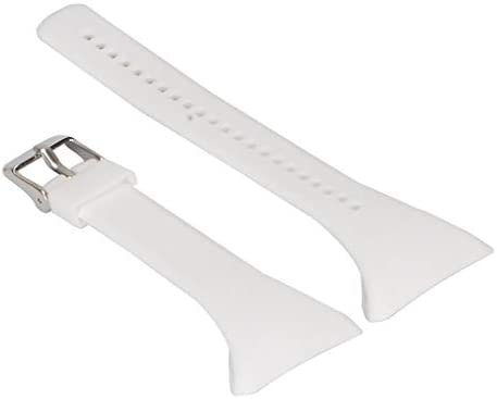 Inzopo Kits de Remplacement de Bracelet de Montre Bracelet de Montre en Caoutchouc Souple, Accessoires de Montre réglables pour Polar FT4 FT7 FT Montre Rose Blanc 15mm