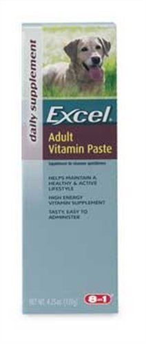 Excel Enervite Daily Supplement Vitamin Paste for Adult Dogs, 4.25-Ounce by Excel (Enervite Vitamin)