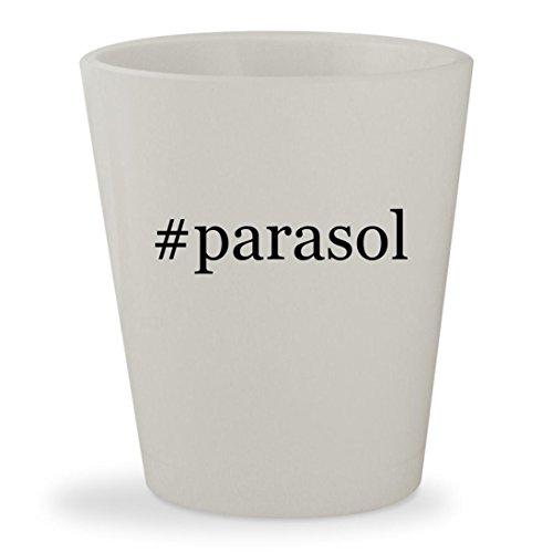 #parasol - White Hashtag Ceramic 1.5oz Shot Glass (Pub Garden Parasols)