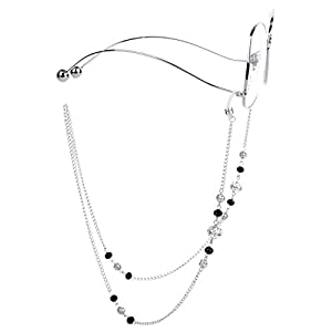 Mini Tree Necklace Eyeglass Chain Beaded Eyeglass Holder Sunglasses Strap and Cords for Women (silver)