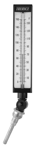 Industrial Thermometer Adjustable (Trerice BX9140304 Adjustable Angle Industrial Thermometer, 9