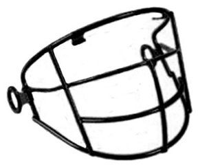 T-Ball Wire Frame Face Guard for All-Star T-Ball Helmets (Hardware Included) (Black Wire (Wire Face Guard)