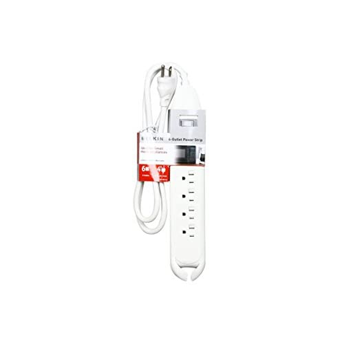 Belkin 6-Outlet Power Strip with 4-Foot Power Cord (White) (F9D160-04) delicate