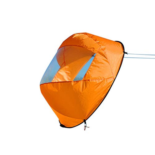 "Hongxin 42"" Downwind Wind Paddle Popup Board Kayak Sail Kit Kayak Wind Sail Kayak Accessories, Easy Setup & Deploys Quickly, Compact & Portable (Orange)"