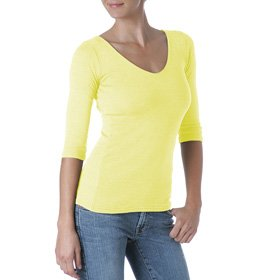 michael-stars-shine-3-4-sleeve-doubled-front-v-neck-one-size-sunsilk