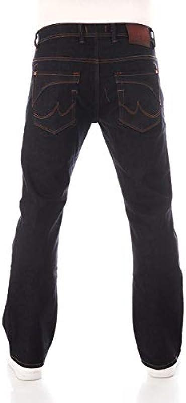 LTB Męskie dżinsy Roden Bootcut - niebieskie - Waterless Wash W28-W42 dżinsy stretch 98% bawełna: Odzież