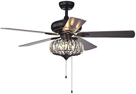 Ruiwing 3 Light 5 Leaf Restaurant Retro Ceiling Fan Light Reversible