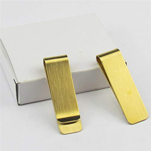 Gift Box Finish Clip Golden in Steel 5 Matt TOOGOO Stainless Money pc vw6PxqUO