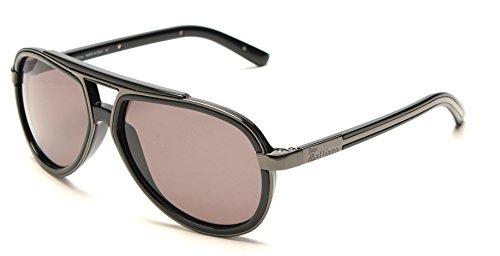john-galliano-womens-pilot-style-sunglasses-grey-black