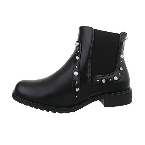 Chelsea Schwarz design Femme Bl09 Ital Boots H1qUEwSxaS