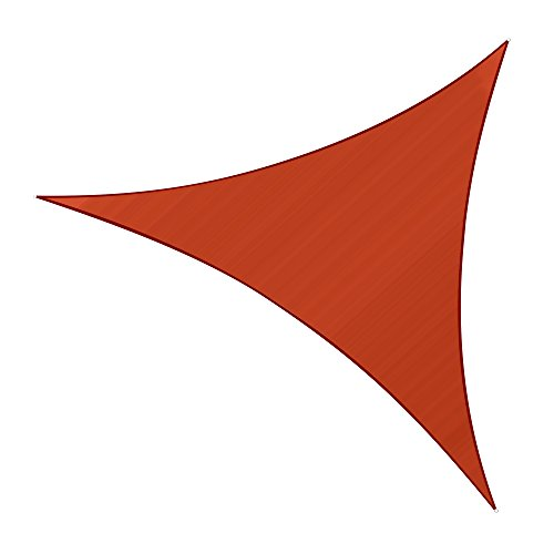 Sunlax 10 x 10 x 10 Terra Color Triangle UV Block Sun Shade Sail Canopy for Patio and Outdoor