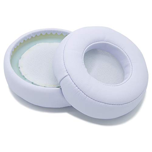 MMOBIEL Ear Pads Cushions Compatible with Monster Beats by Dr. Dre Pro Detox Headphones Protein Leather (White)