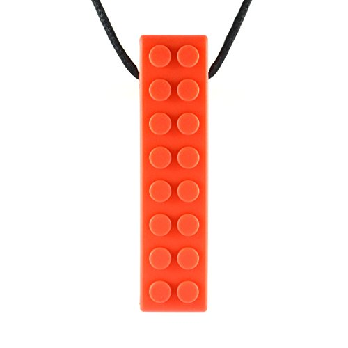 Quell-O Mega Brick Sensory Chew Necklace - Tough - Tactile Chewelry for Mild Chewers (Mega Brick)