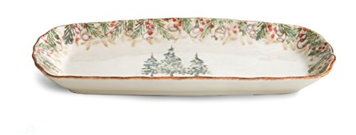 Arte Italica Natale Rectangular Tray, (Arte Italica Dinnerware)