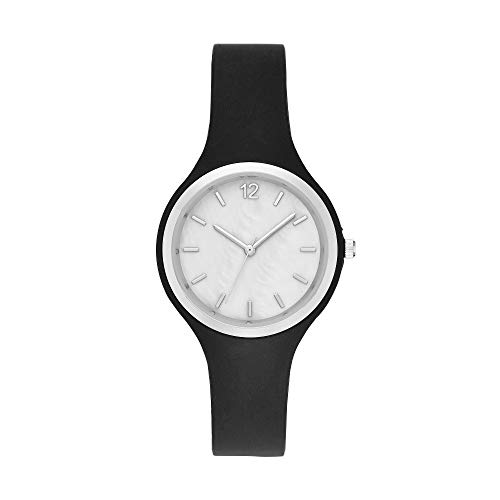 A New Day Women's Rubber Athleisure Watch - Silver (Analog Display)