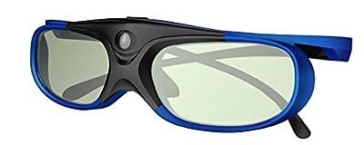 DLP LINK 3D Glasses, ELEPHAS 144Hz Rechargeable Active Shutter Eyewear for All DLP-Link 3D Projectors-- Acer, ViewSonic, BenQ Vivitek, Optoma, Panasonic, Dell, Viewsonic etc (1 Pack)