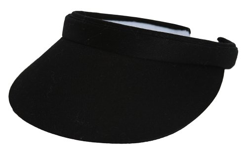 Sports Cotton Twill Visor - Black