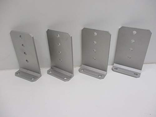 CTW (4) Vertical Pontoon Boat Trailer Bunk Bolster L Brackets / 5