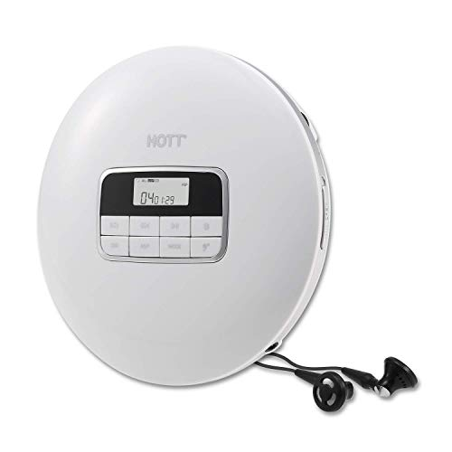 HOTT CD511 Portable CD Player,Small CD Player, Personal Compact Discman CD Player Walkman Music CD Player with…