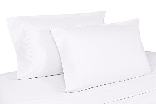 Organic Cotton Pillow Case Set by Whisper Organic - GOTS Certified, 400 Thread Count, Sateen (Standard, -