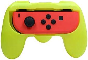 FKYNB Caso de Agarre Izquierdo + Derecho Joycon Soporte del sostenedor del Interruptor maneta Mano for Nintendo NS-con alegría Gamepad Mano Soporte de la Ayuda Grip (Color : 1 Yellow)