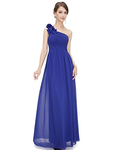 Ever-Pretty Sexy Off Shoulder Bridesmaid Dresses Long 14US Sapphire Blue