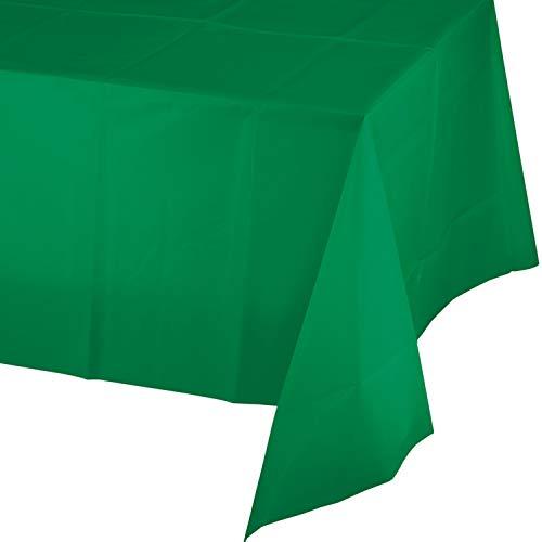 Emerald Green Plastic Tablecloths, 3 ct