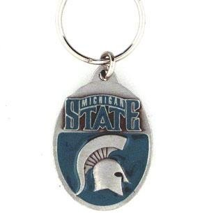 NCAA Michigan State Spartans Carved Key Chain, Metal, One Size