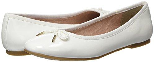 Blanc white Tamaris 22123 Ballerines Patent Femme wCqqAFztx