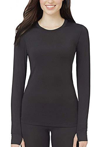 Cuddl Duds Ultra-Soft Modal Women's Stretch Warm Layer Long Sleeve Top (XL - Black) (Cuddl Duds Black Long Underwear)